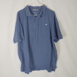 Southern Marsh Keller Cut Cotton Polo Shirt Pale B